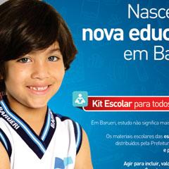 Prefeitura de Barueri - Campanha Educação Kit Escolar (Jornal)