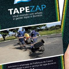 Prefeitura de Franca - Campanha TapZap (Saco de Pão)